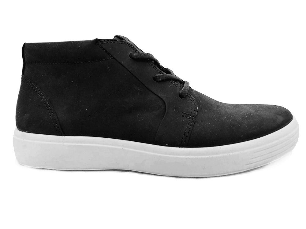 Zwarte Ecco Veterschoenen Soft 7 M Black Oil