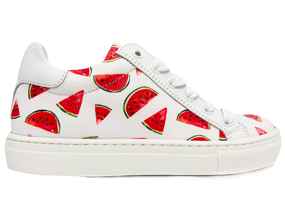 Witte Giga Veterschoenen Watermeloen