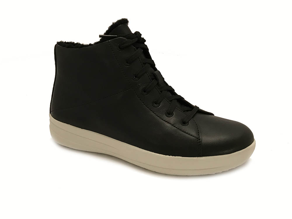 Zwarte FitFlop™ F-Sporty™ High-Top Sneakers