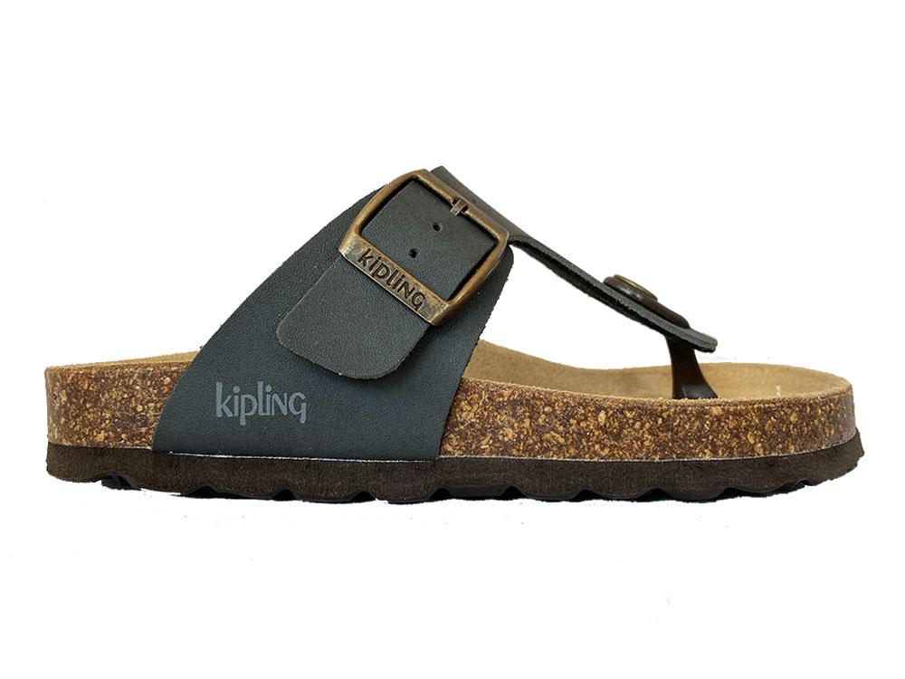 Grijze Kipling Slippers Juan 4 Dark Grey