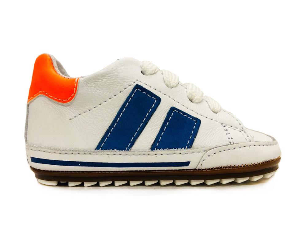 Witte ShoesMe Veterschoenen Flex Baby Proof