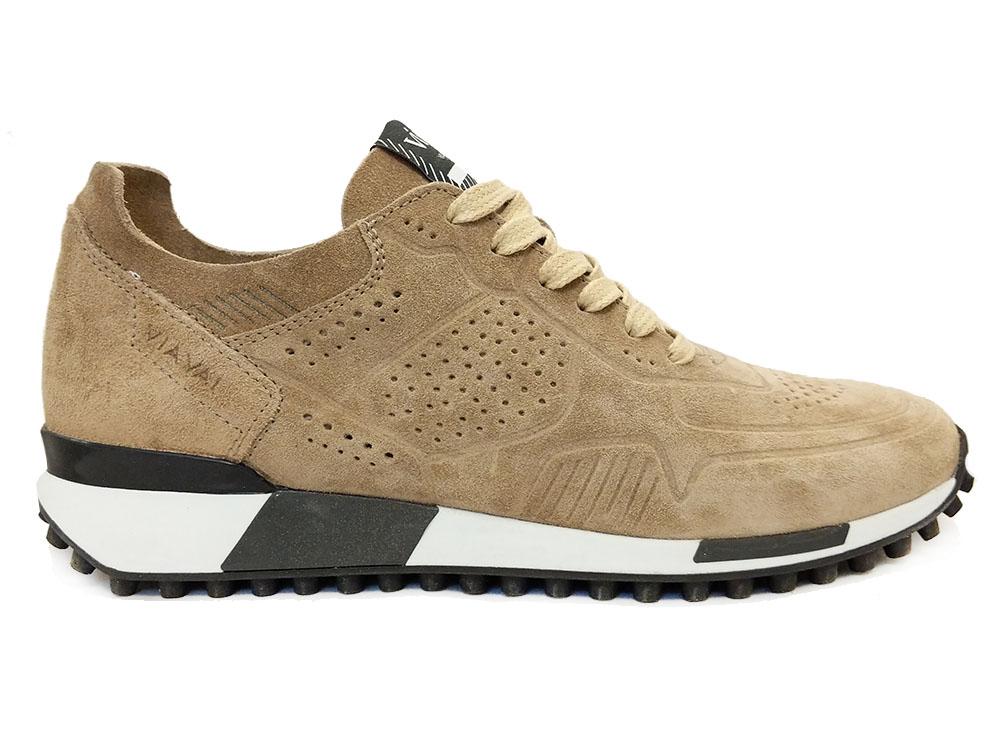 Beige Via Vai Sneakers Sierra Cerbiatto