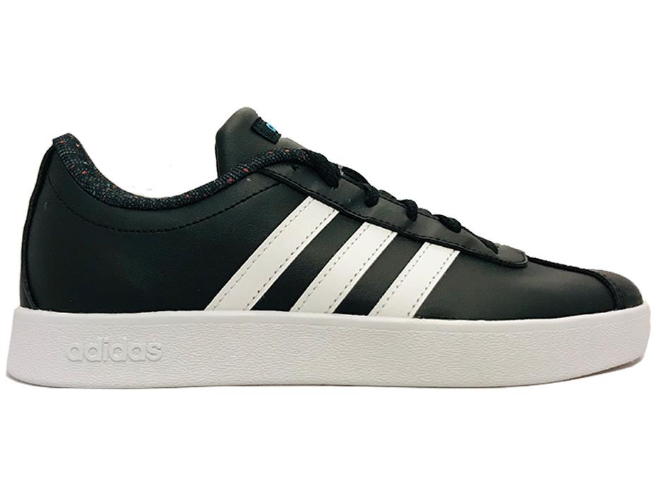 Zwarte adidas Sneakers VL Court 2.0 Kids Verest Schoenen