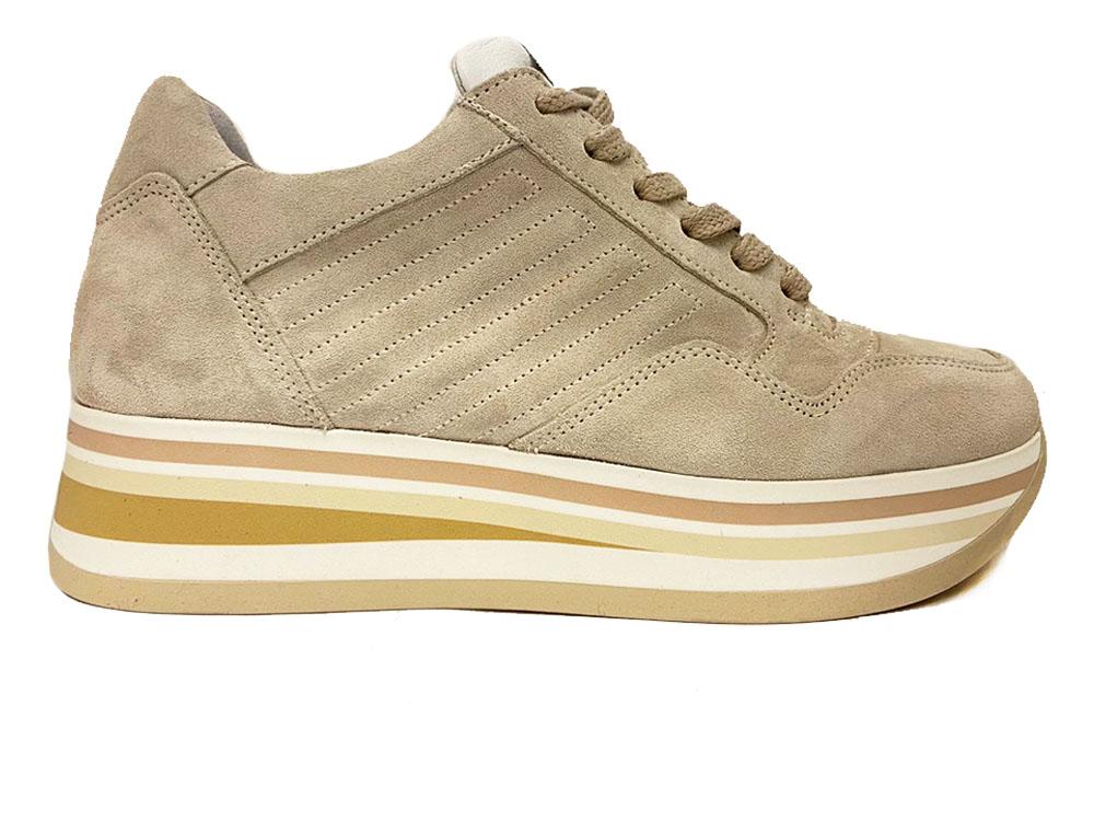 Beige Via Vai Sneakers Sierra Calcare