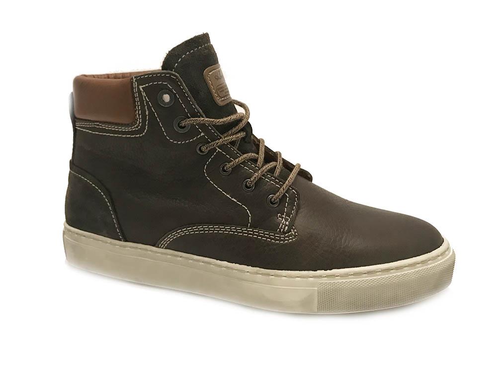 Grijze Australian Veterschoenen Salvatore Leather