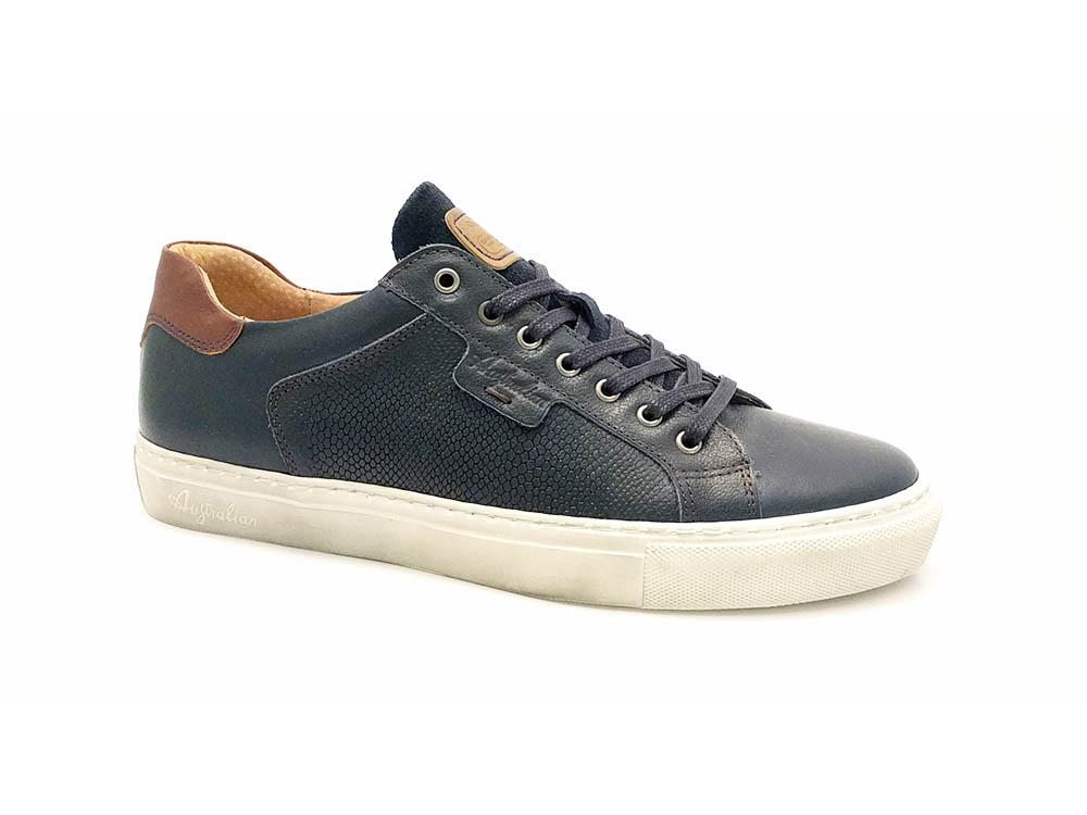 Blauwe Australian Veterschoenen Saunders Leather