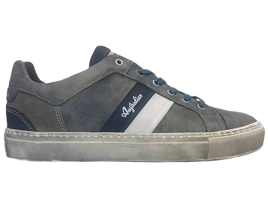 Grijze Australian Veterschoenen Darryl Leather
