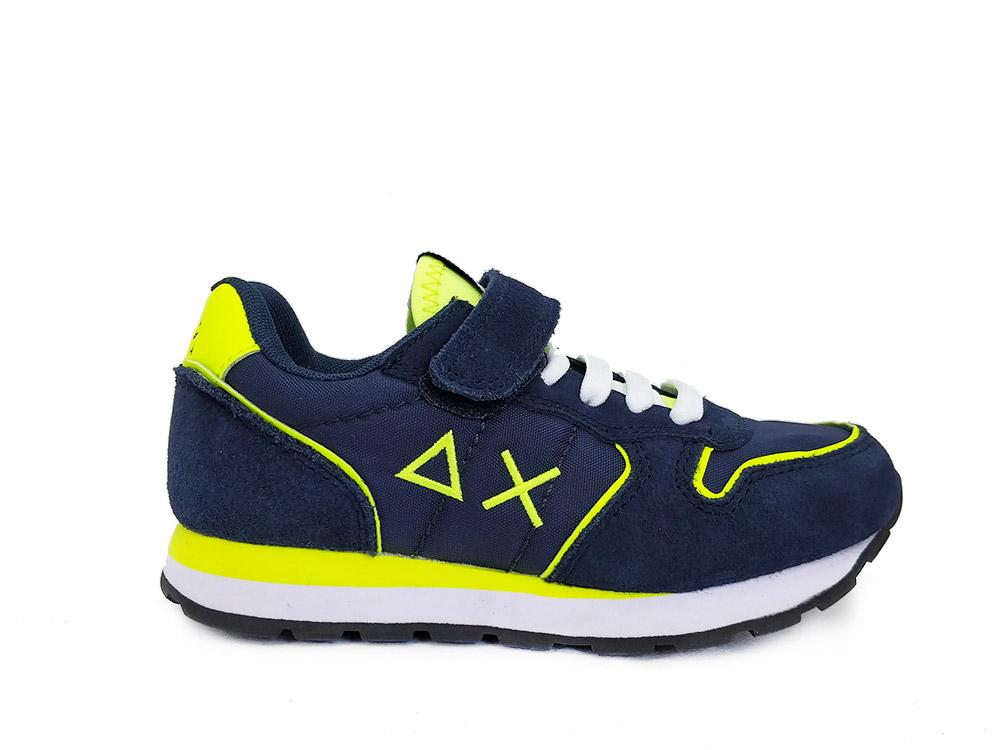 SUN68 Blauwe  Sneakers Kids Tom Solid Fluo
