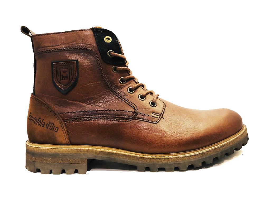 Bruine Pantofola d'Oro Veterschoenen Pozano High