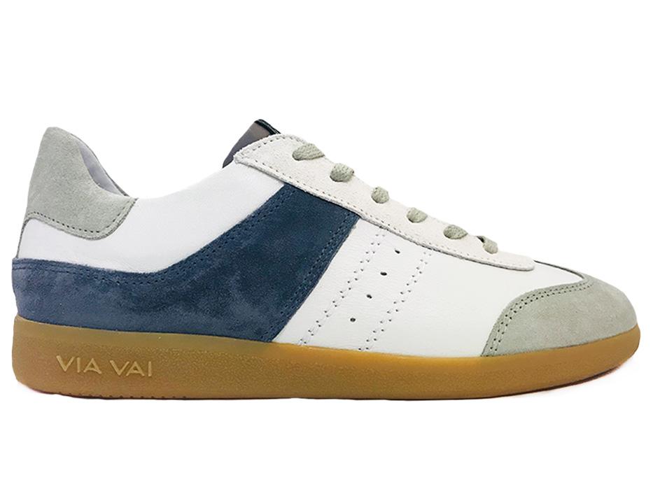 Grijze Via Vai Sneakers Nilla Bomber Combi Mauve