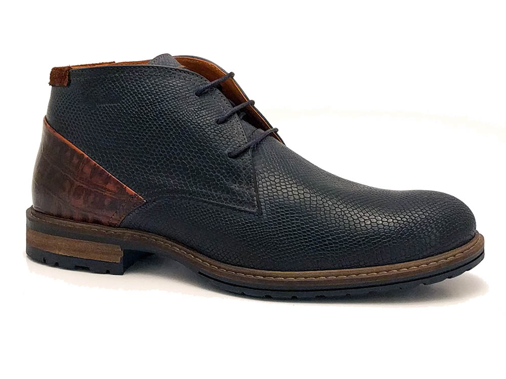 Blauwe Australian Veterschoenen Jersey Leather