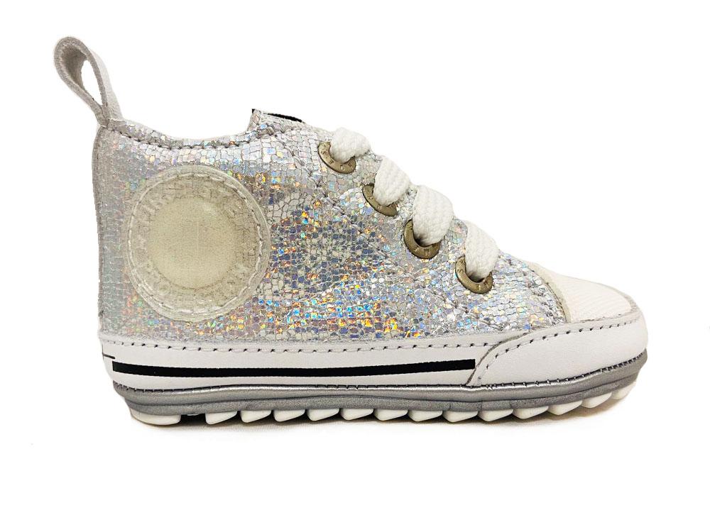 Zilveren ShoesMe Veterschoenen Flex Baby Proof