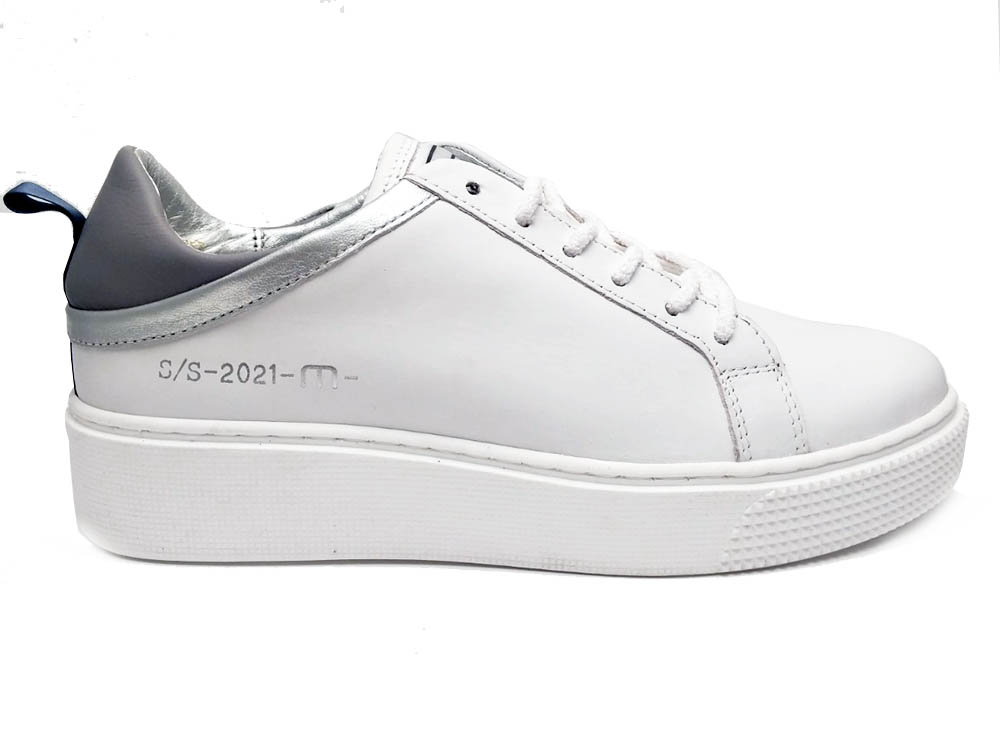 Witte Mjus Sneakers Argento