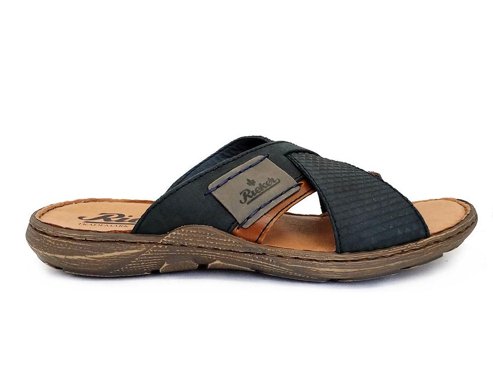 Blauwe Rieker Slippers
