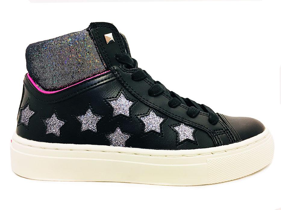 Zwarte Skechers Street Sneakers Sterren