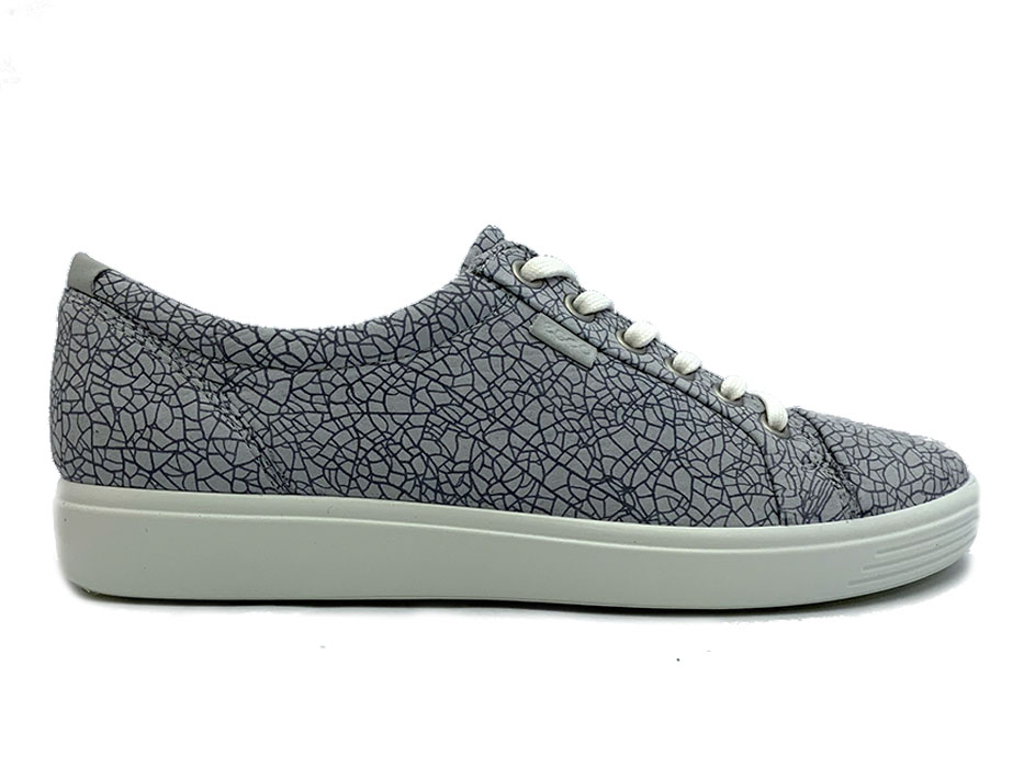 Grijze Ecco Sneakers Soft 7 W Concrete