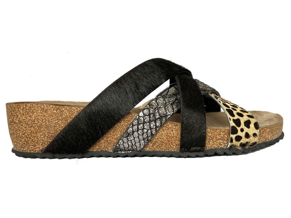 Zwarte Lazamani Sandalen