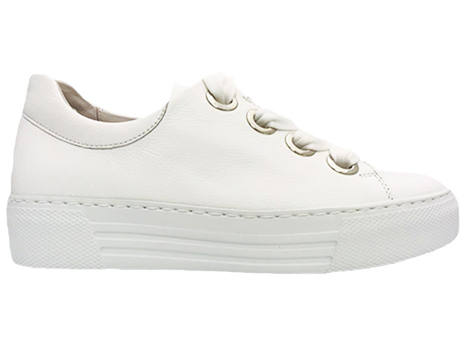 Witte Gabor Sneakers Wijdte G