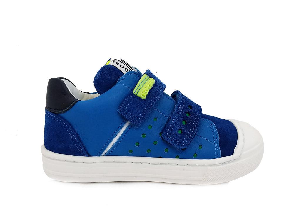 Develab Blauwe  Klittenbandschoenen Nappa
