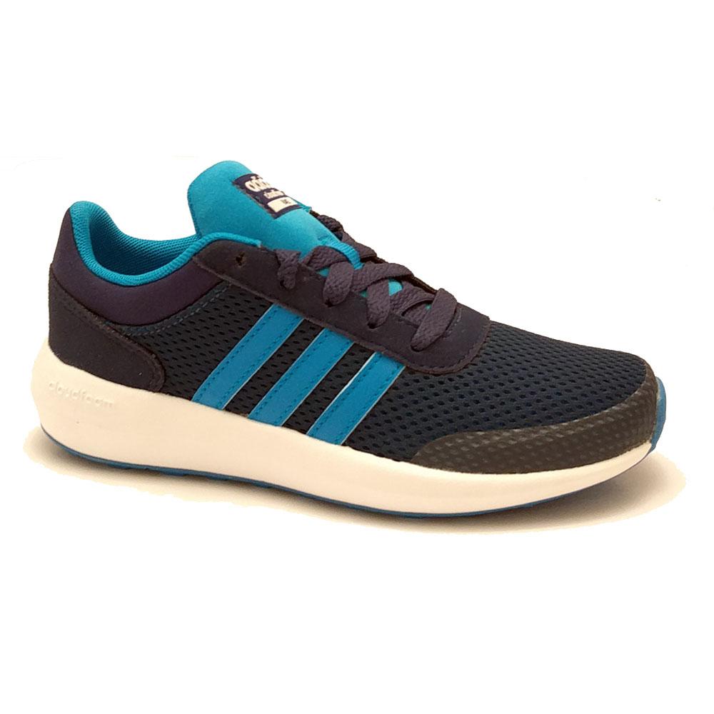 Blauwe adidas Cloudfoam Race Sneakers