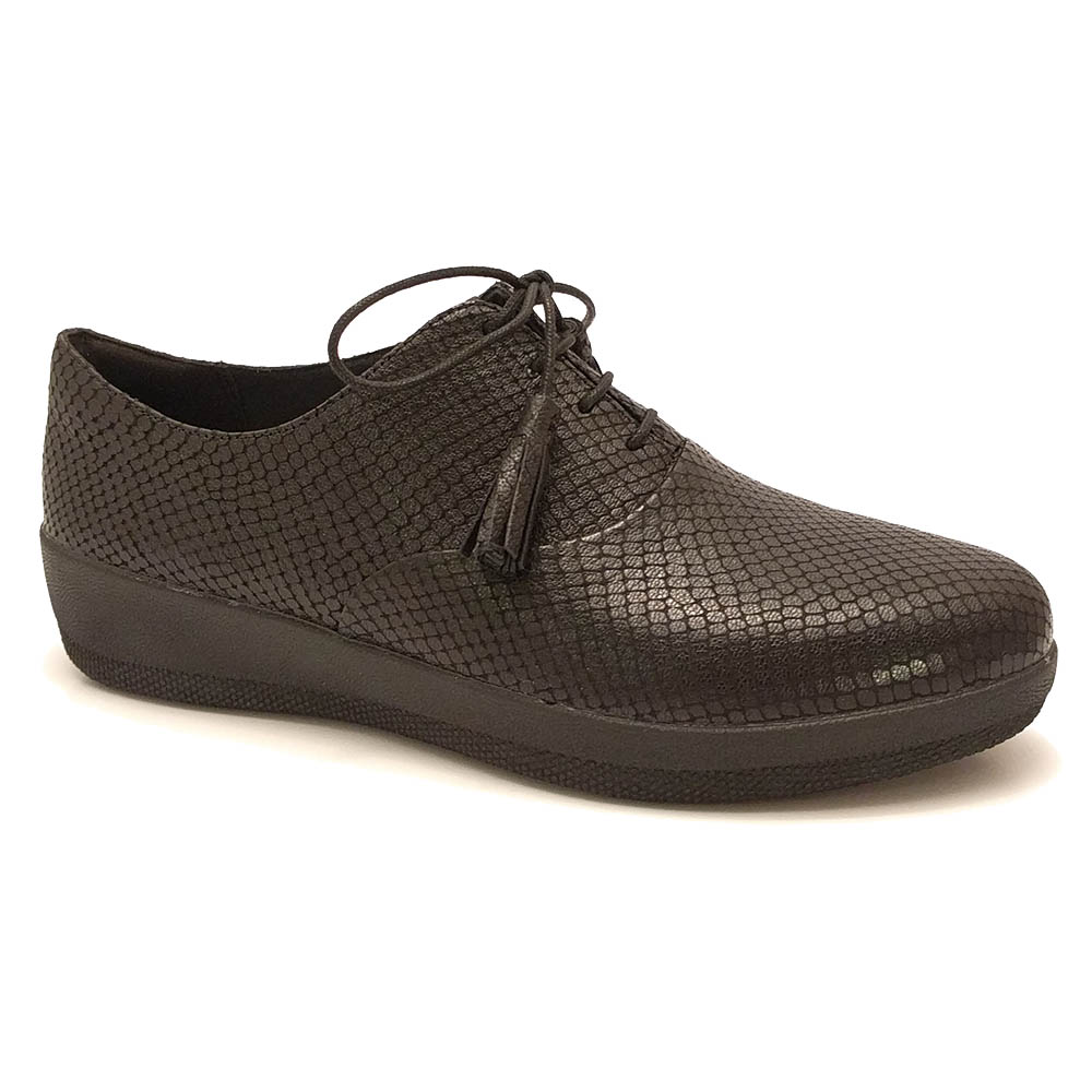 FitFlop™ Classic Tassel Superoxford™ Leather Black