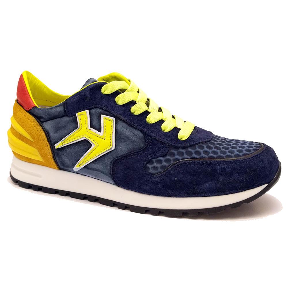 Blauwe Hip Sneakers Navy Geel
