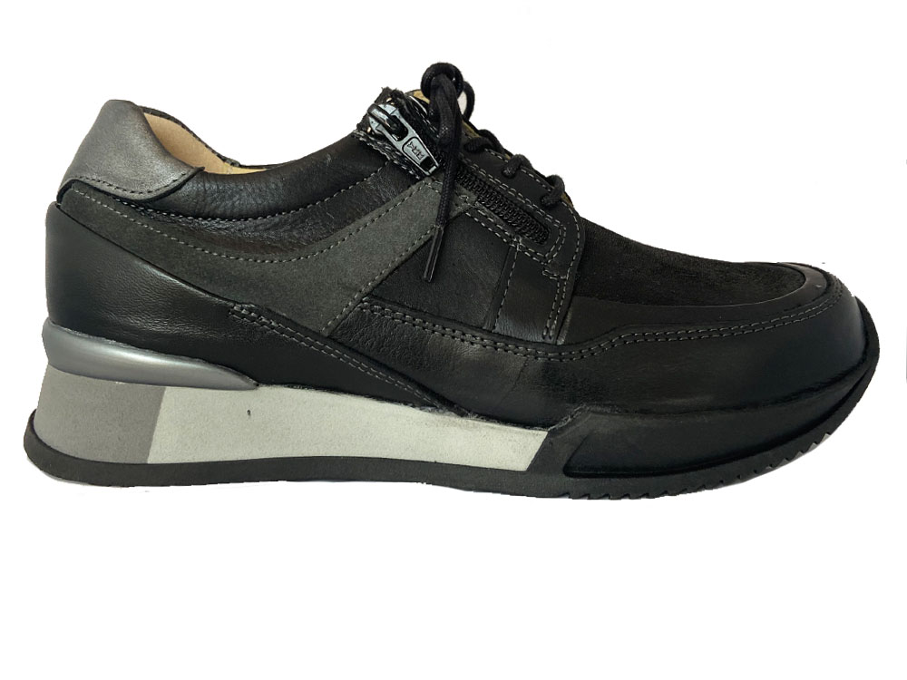 Zwarte Wolky Veterschoenen E Walk Stretch