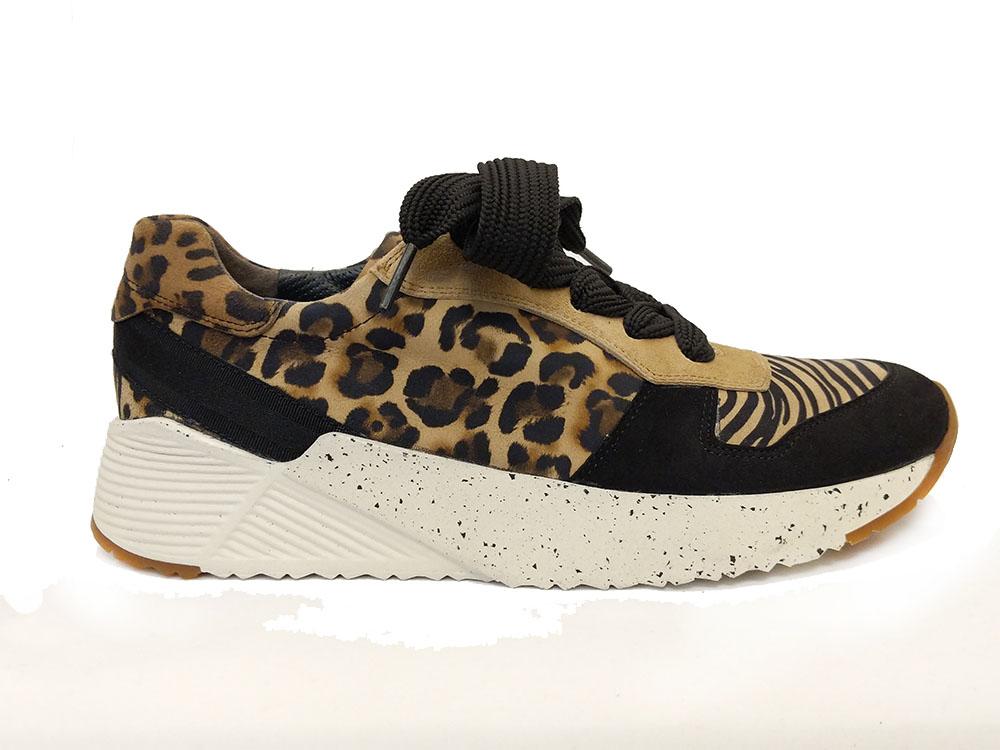 Bruine Paul Green Sneakers Leopardino Black Camel
