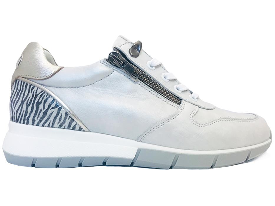 Witte Piedi Nudi Sneakers Zebra