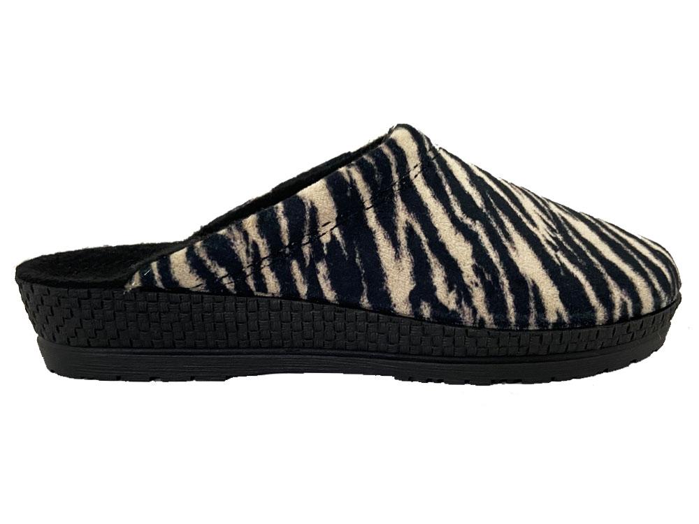 Zwarte Rohde Pantoffels Zebra