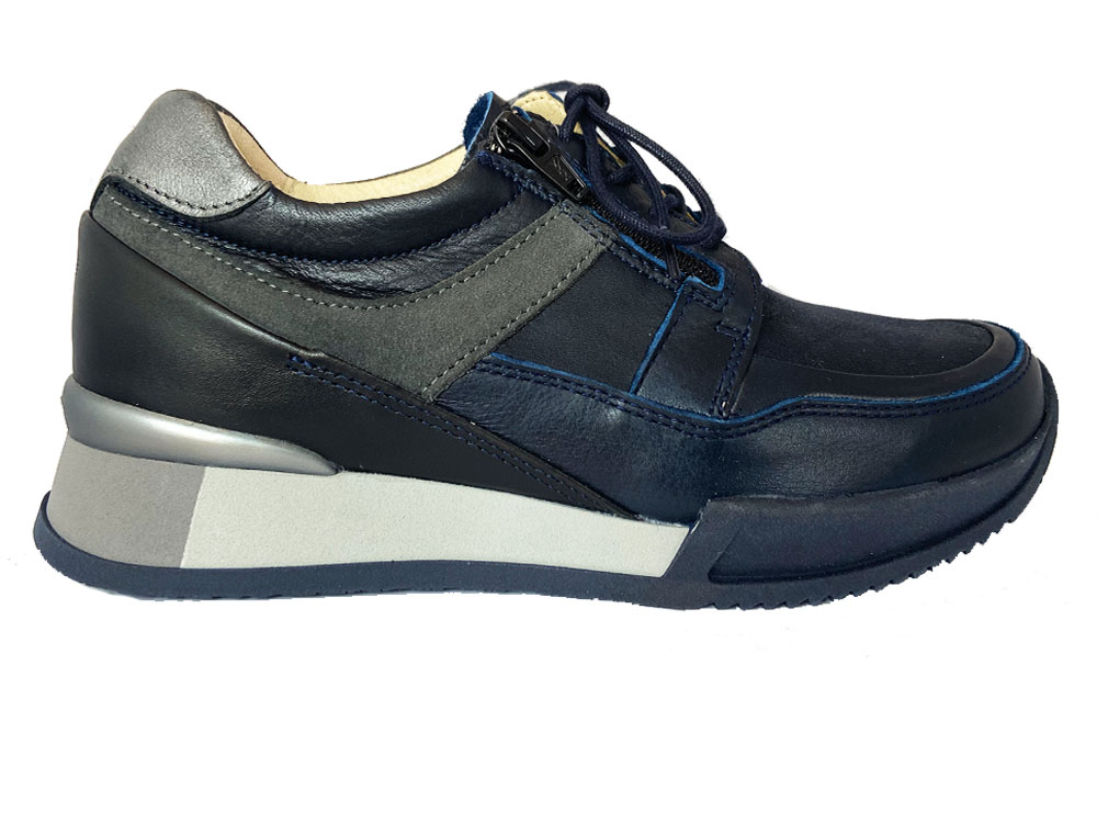 Blauwe Wolky Veterschoenen E Walk Stretch