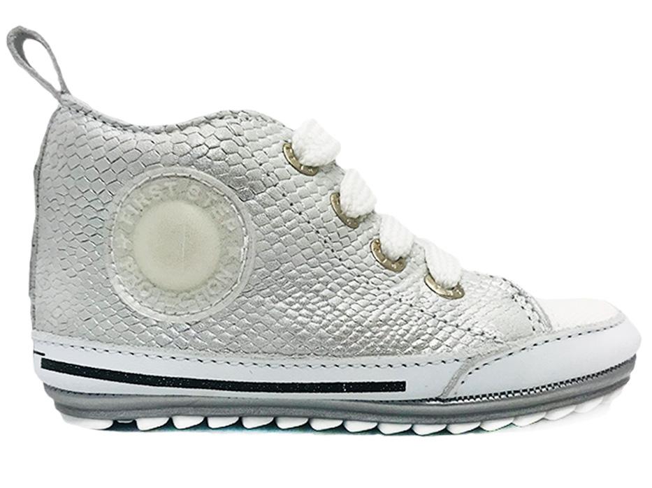 Zilveren ShoesMe Veterschoenen Baby Proof