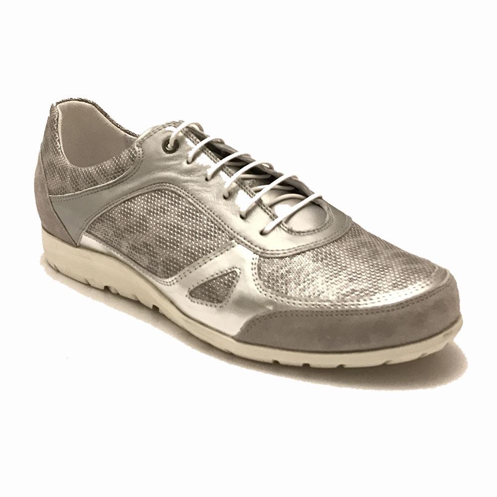 Grijze Footnotes Sneakers Leopard Luxe