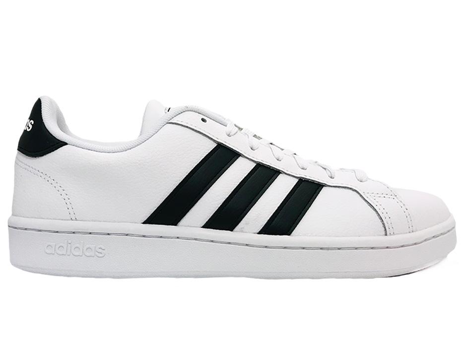 Image of Witte adidas Sneakers Gran Court zwarte strepen