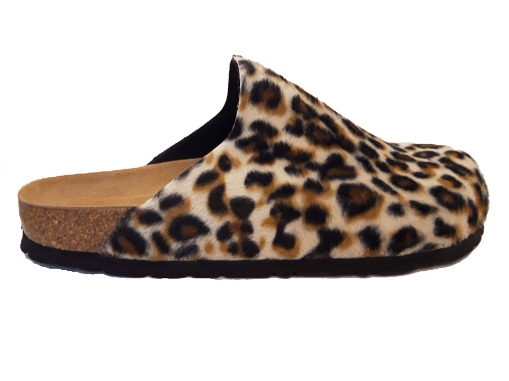 Bruine Rohde Slippers Panterprint