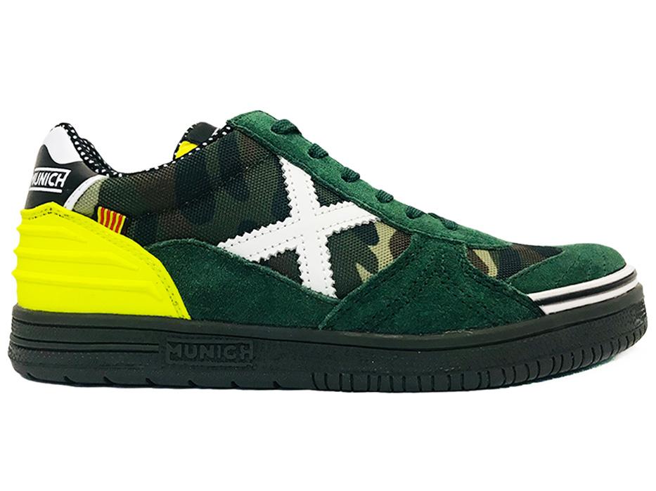 Groene Munich Sneakers G3 Camo Kids