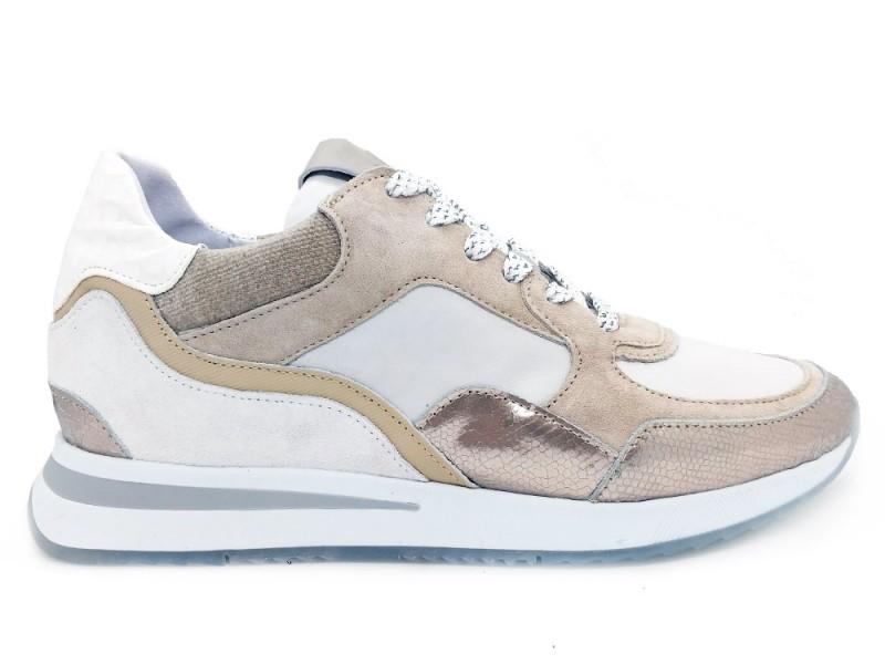 5607017-Platino Via Vai Beige Via Vai Sneakers Toluca Combi Platino