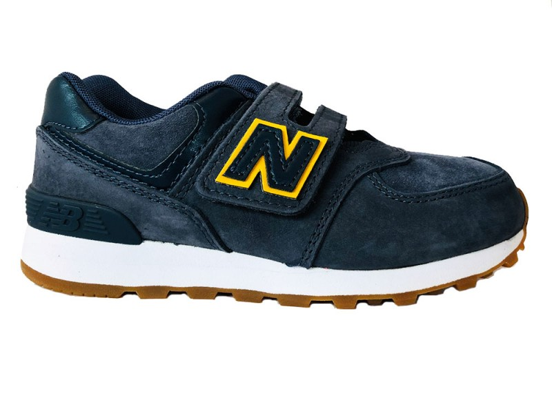 YV574-PNY New Balance Blauwe New Balance Sneakers 574 Klittenband Kids