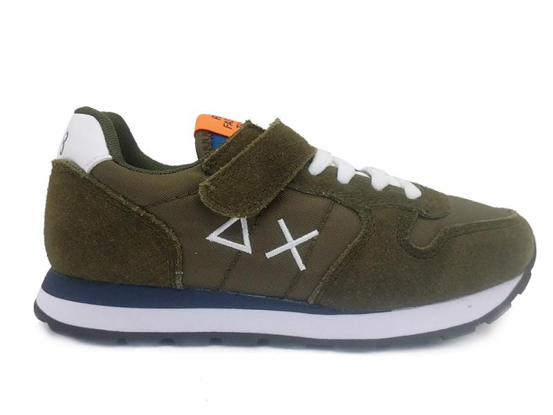 Z31301-Militare SUN68 Groene SUN68 Sneakers Kids Tom Solid