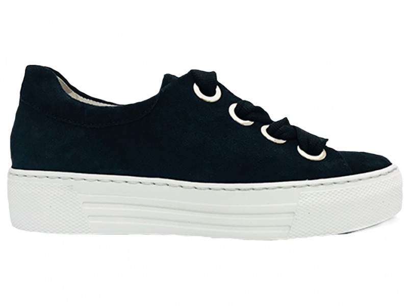 26.464-46 Gabor Blauwe Gabor Sneakers Wijdte G