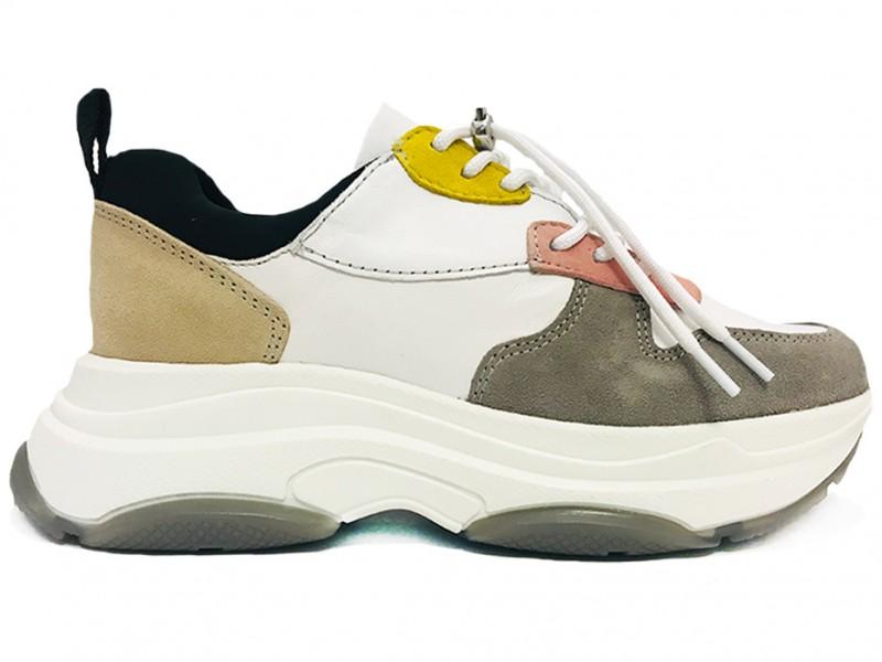 45.800-FreeSoftMix Lazamani Zwarte Lazamani Sneakers Soft Mix