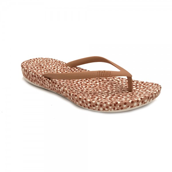 H63-470 FitFlop™ FitFlop™ IQushion™ Ergonomic Slippers Nude Bubbles
