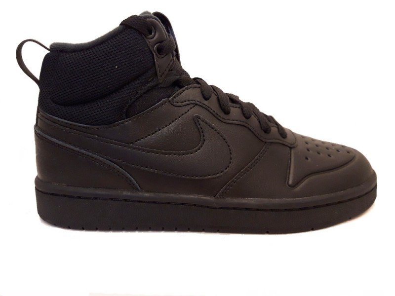 BQ5440-001 Nike Zwarte Nike Sneakers Court Borough Mid 2 Kids