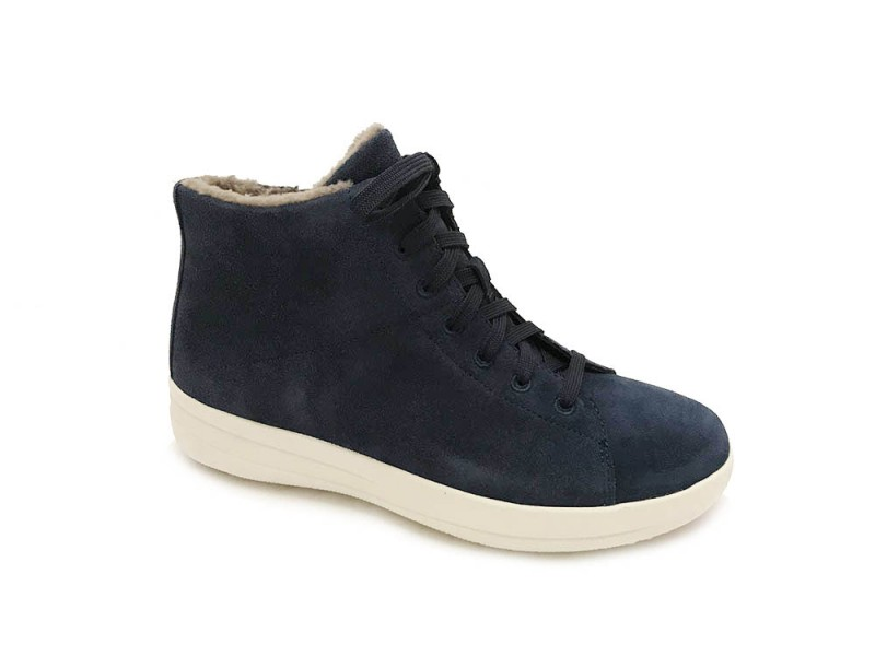 I75-399 FitFlop™ Blauwe FitFlop™ F-Sporty™ High-Top Sneakers