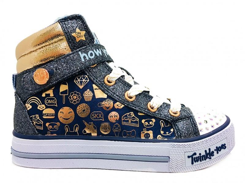 10828L-NVGD Skechers Blauwe Skechers Sneakers Twinkle Toes