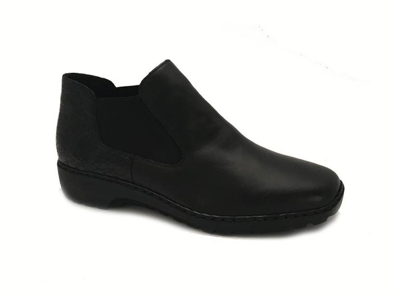 L6090-00 Rieker Zwarte Rieker Instapschoenen