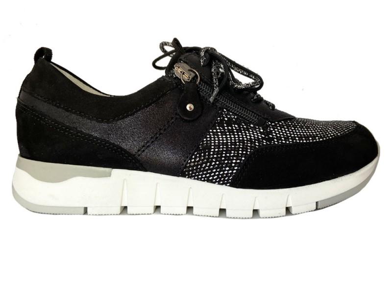 908009-403-001 Waldlaufer Zwarte Waldlaufer Sneakers Denver Karo Wijdte H