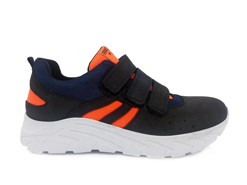 321376-129 Track Style Blauwe Trackstyle Klittenbandschoenen Wijdte 3,5