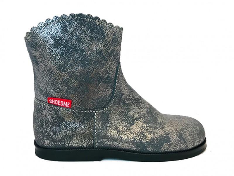 BL8W069-B ShoesMe Zilveren ShoesMe Enkellaarsjes