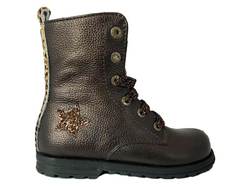 DE20W094-A ShoesMe Bronzen Shoesme Veterboots